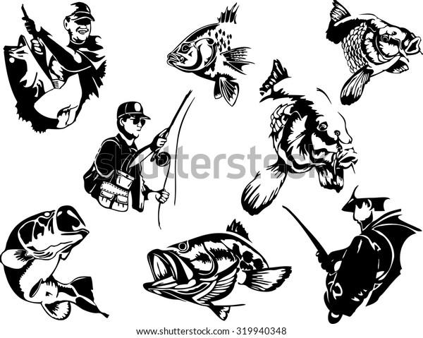 fishing silhouettes