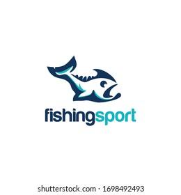 Fishing Sport Logo Animal and Vector