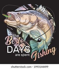 fishing sport vector bass fisherman Big Mouth Boat  vector illustration,