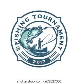 Fishing Tournament Logo Template