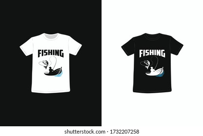 Fishing T-Shirt, If you like fishing this design is perfect for you.