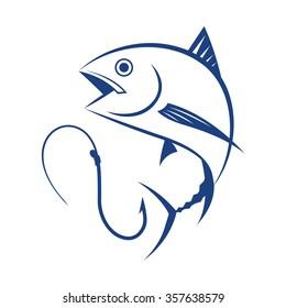 fishing tuna, vector