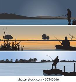 Fishing. Vector illustration