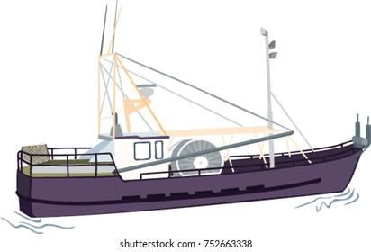 Fishing vessel illustration
