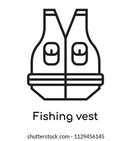 Fishing vest icon vector isolated on white background for your web and mobile app design, Fishing vest logo concept