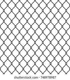 Fishnet Seamless Pattern Vector Illustration
