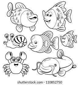 Fishs black and white collection