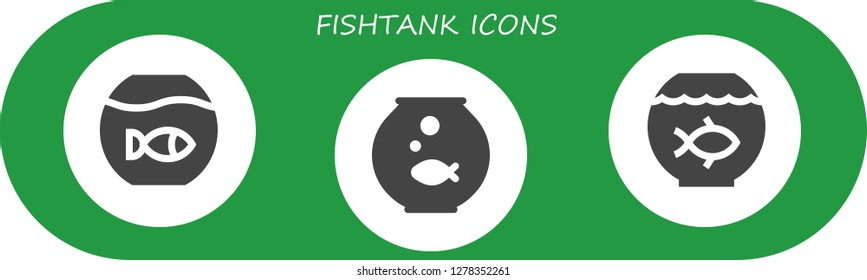 fishtank icon set. 3 filled fishtank icons. Simple modern icons about  - Fishbowl, Fish bowl