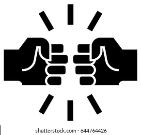 Fist bump icon