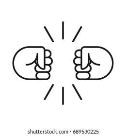 Fist bump icon. Vector