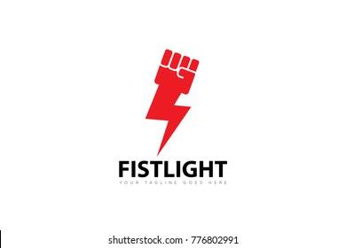 fist concept logo, icon, symbol, design template