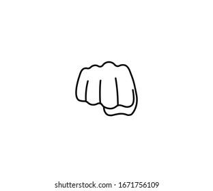 Fist emoji vector isolated icon illustration. Fist emoticon