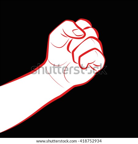 Fist Fight Icon Clenched Fist Symbol Stock Vector Royalty Free