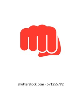 Fist, forward punch icon vector, filled flat sign, solid colorful pictogram isolated on white. Symbol, logo illustration