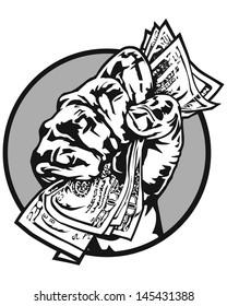 Fist full of cash