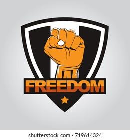 Fist hand badge template