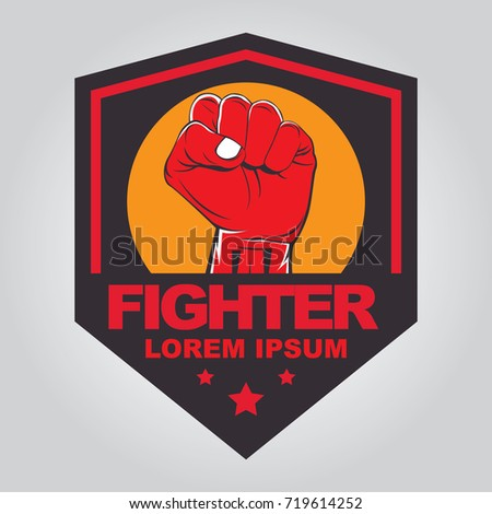 fist hand badge template shutterstock stock vector royalty free