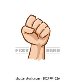 fist hand gesture with white background wallpaper vector illustration