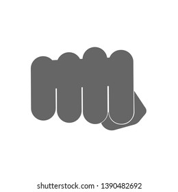 fist icon. hit. hand mock up isolated on white background. vector illustration eps10