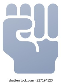 Fist icon illustration of a hand in in clench fist gesture