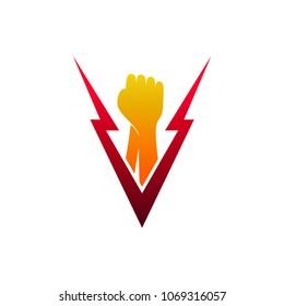 Fist Letter V, Initial Letter Logo Template