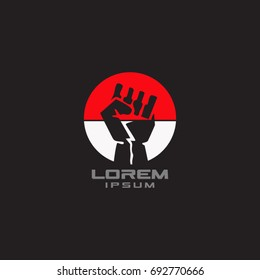 fist logo for independence
