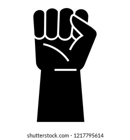 Fist up protest icon. Simple illustration of fist up protest vector icon for web design isolated on white background