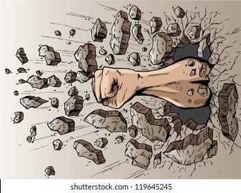 Fist through wall