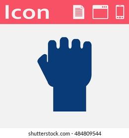 fist vector flat icon