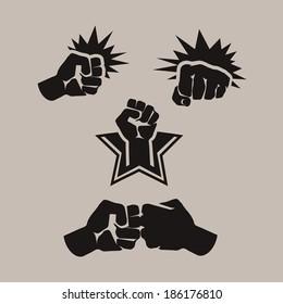 Fist. Vector format