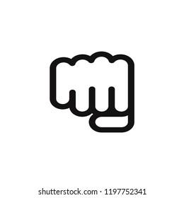 Fist vector icon