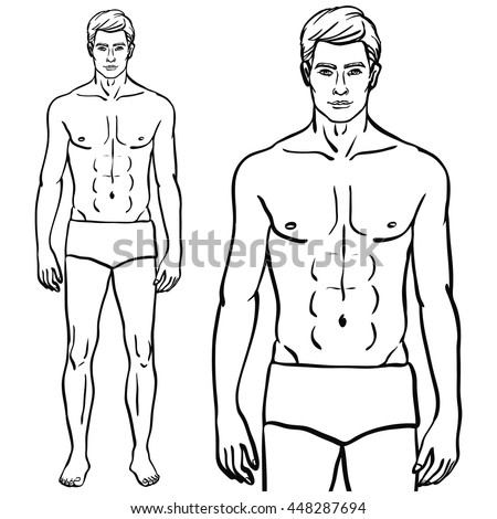 Fit Fashion Model Man Isolated Vector Illustration In EPS 8 Format Athletic Male Body Template