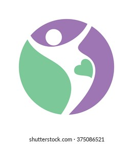 fit and pregnant logo vector.