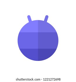 fitball flat vector icon
