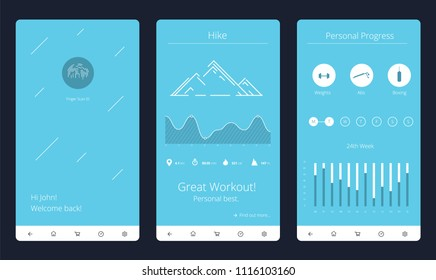 Fitness Application Vector Illustration