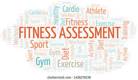 Fitness Assessment word cloud. Wordcloud made with text only.