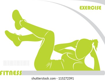 Fitness background - vector illustration