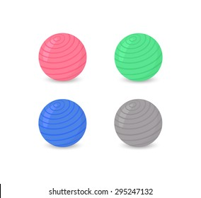 Fitness ball set