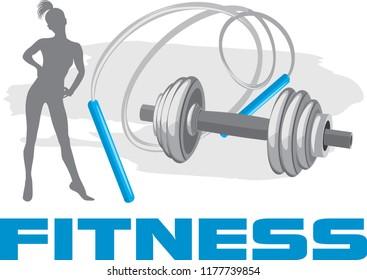 Fitness. Banner for design. Vector