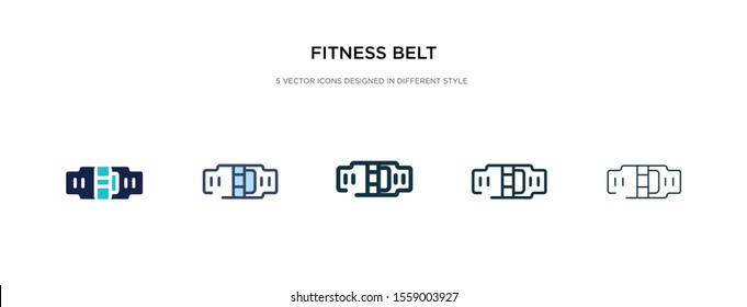 fitness belt icon in different style vector illustration. two colored and black fitness belt vector icons designed in filled, outline, line and stroke style can be used for web, mobile, ui