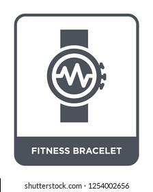 fitness bracelet icon vector on white background, fitness bracelet trendy filled icons from Gym and fitness collection, fitness bracelet simple element illustration