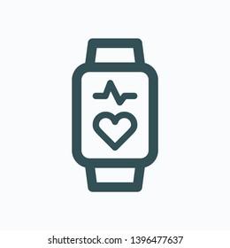 Fitness bracelet isolated icon, smart bracelet linear vector icon