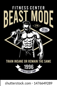 fitness center beast mode design