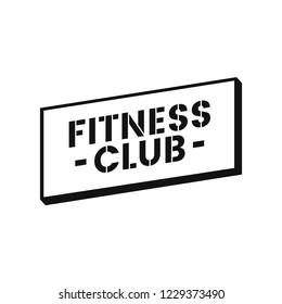Fitness club logo badge vector