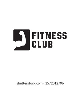 fitness club logo concept inspiration, vector eps 10