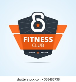 Fitness club logo. Vector illustration for print or web design.
