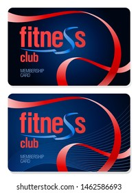 Fitness club membership cards set, vector design concept