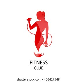 fitness club red icon