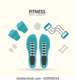 Fitness design. Gym icon. Flat illustration, sport vector graphic