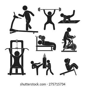 Fitness design over white background, vector illustration.
